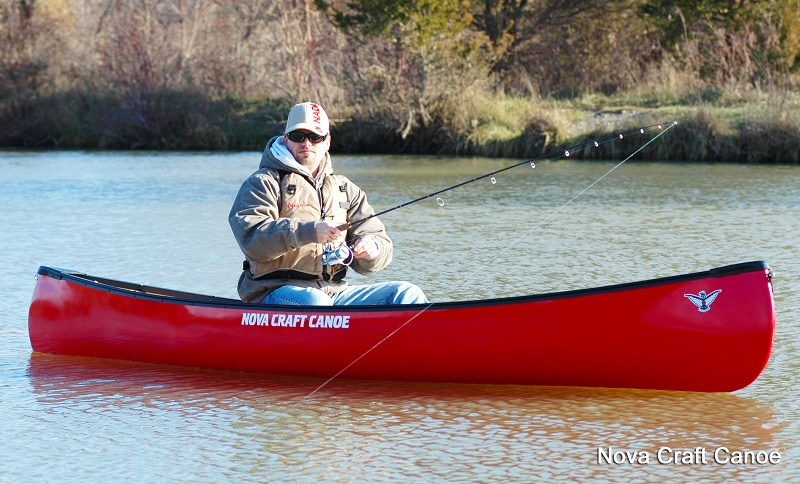 Nova Craft Trapper 12   Lightweight stable solo canoe for
