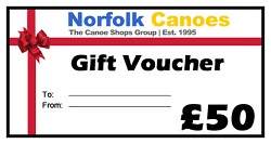 Christmas Gift Vouchers from Norfolk Canoes