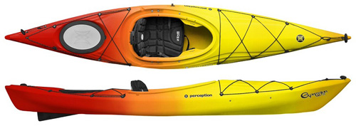 Perception Expression 11 High Performance Fast Touring Kayak Sunset
