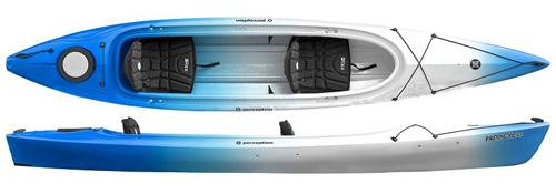 Perception Prodigy Tandem Touring Kayak With One Large Cockpit
