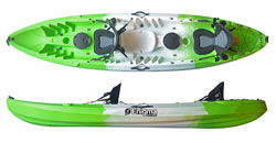 Enigma Kayaks Flow Duo Tandem Sit On Top Kayaks Deluxe Affordable Package For Sale