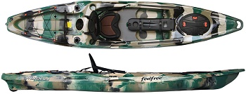 Feelfree Moken 12.5 Fishing Sit On Top Kayak With Kingfisher Seat A Great Stable Anglers Kayak