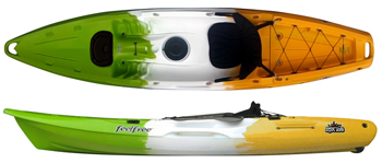 Feelfree Juntos sit on top kayak for an adult and a small child