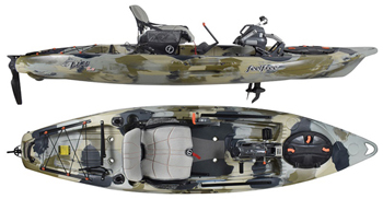 Feelfree Lure Pedal Or Electric Motor Overdrive Fishing Sit On Top Kayak With Height Adjustable Gravity Seating System