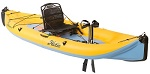 Hobie i14T 2019 - inflatable mirage pedal drive kayak in mango slate