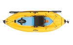 deck view of the Hobie i9s inflatable kayak with mirage 180 pedal drive perfect to pack into the boot of a car