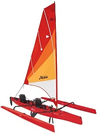 The amazing Hobie Tandem Island 2 person sialing Mirage Drive kayak for sale