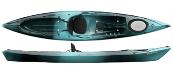 Perception Triumph 13 fast sit on top for kayak fishing
