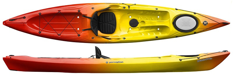 Perception Triumph 13   A Fast Sit On Top Touring Kayak - Norfolk Canoes