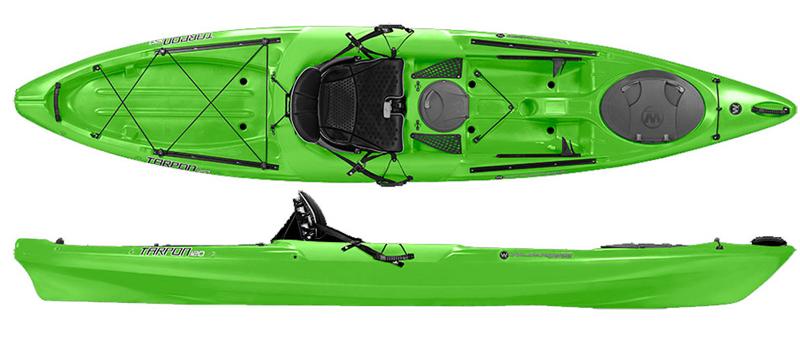 Wilderness systems tarpon 120 sit on top kayaks for Wilderness fishing kayak